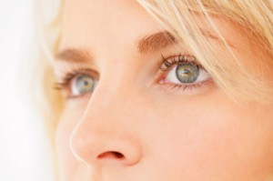 Detail image of eyes of a beautiful blond girl
