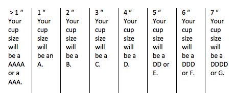 How to Determine Bra Cup Size
